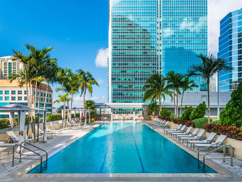 Stunning pool at the Conrad Miami hotel